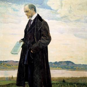 Mikhail Nesterov, The Thinker: A Portrait of Ivan Ilyin, 1922