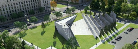 Proposed design for the memorial to the victims of communism